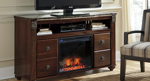 Entertainment with Fireplace Insert